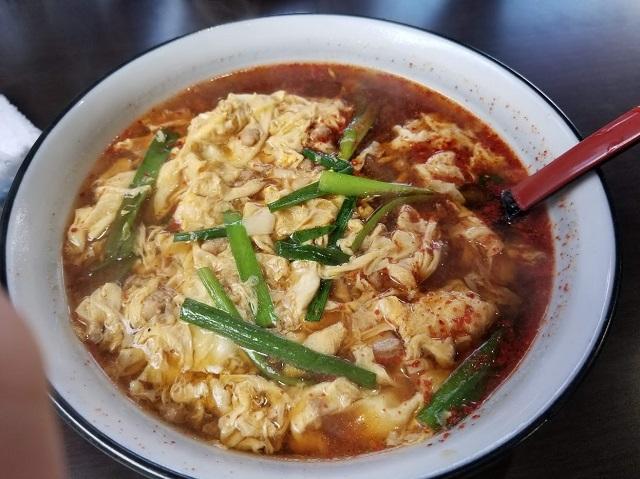 5辛(だんだんとスープが赤くなるくらい)