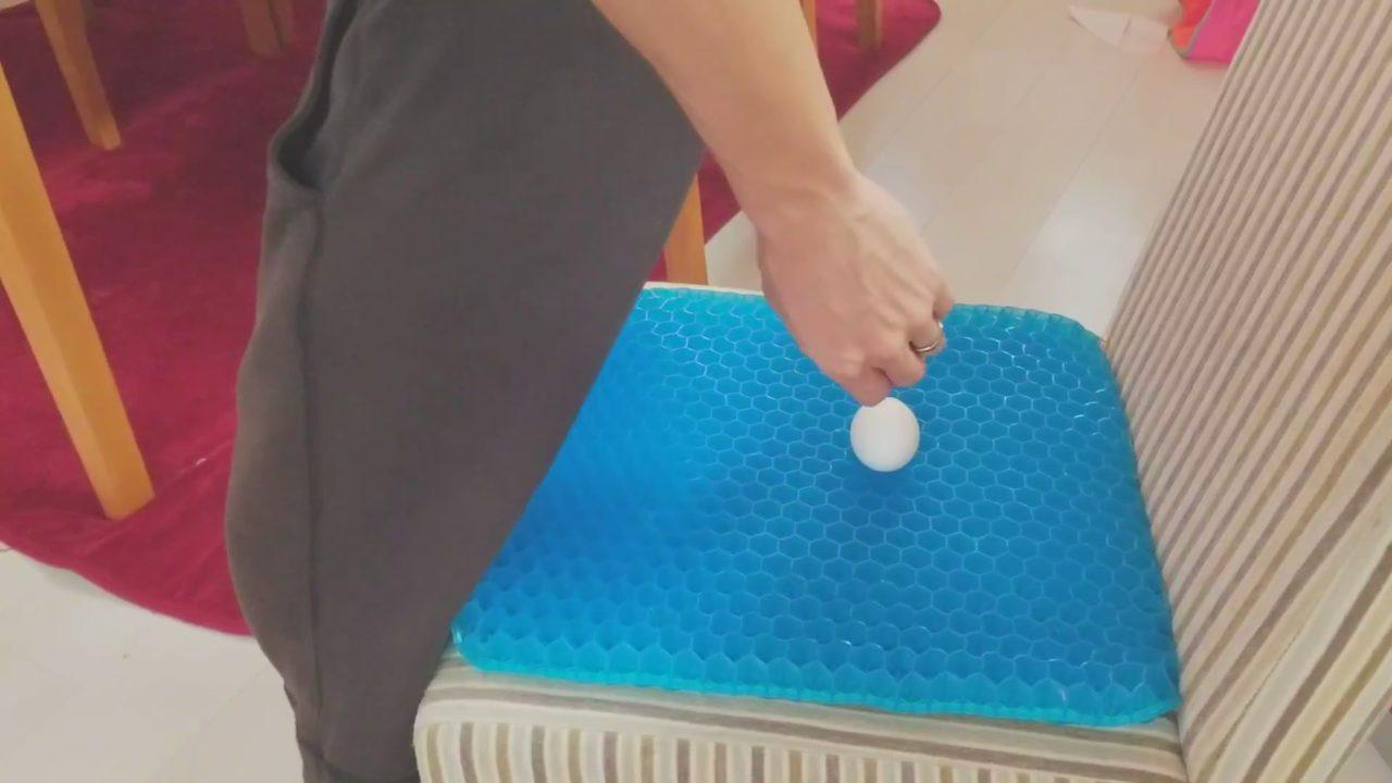 しっかりと卵を置きます