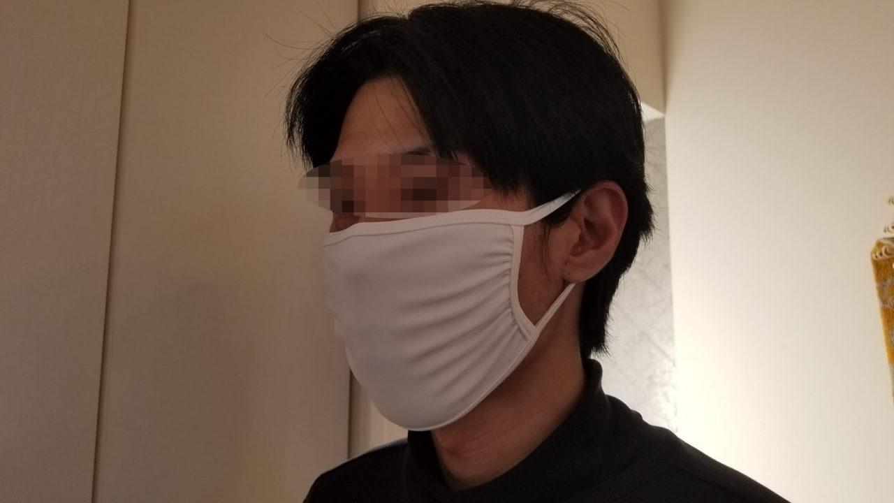 夫がつけた水着マスク