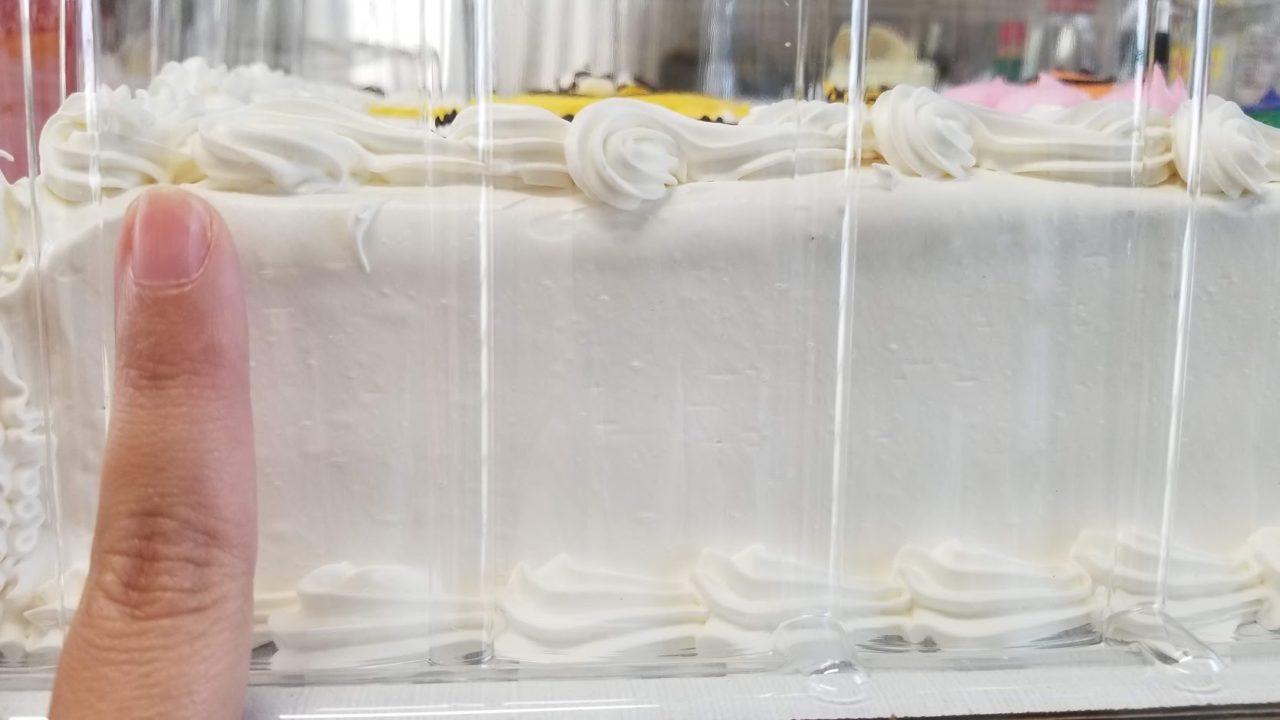 ハーフシートケーキの高さ