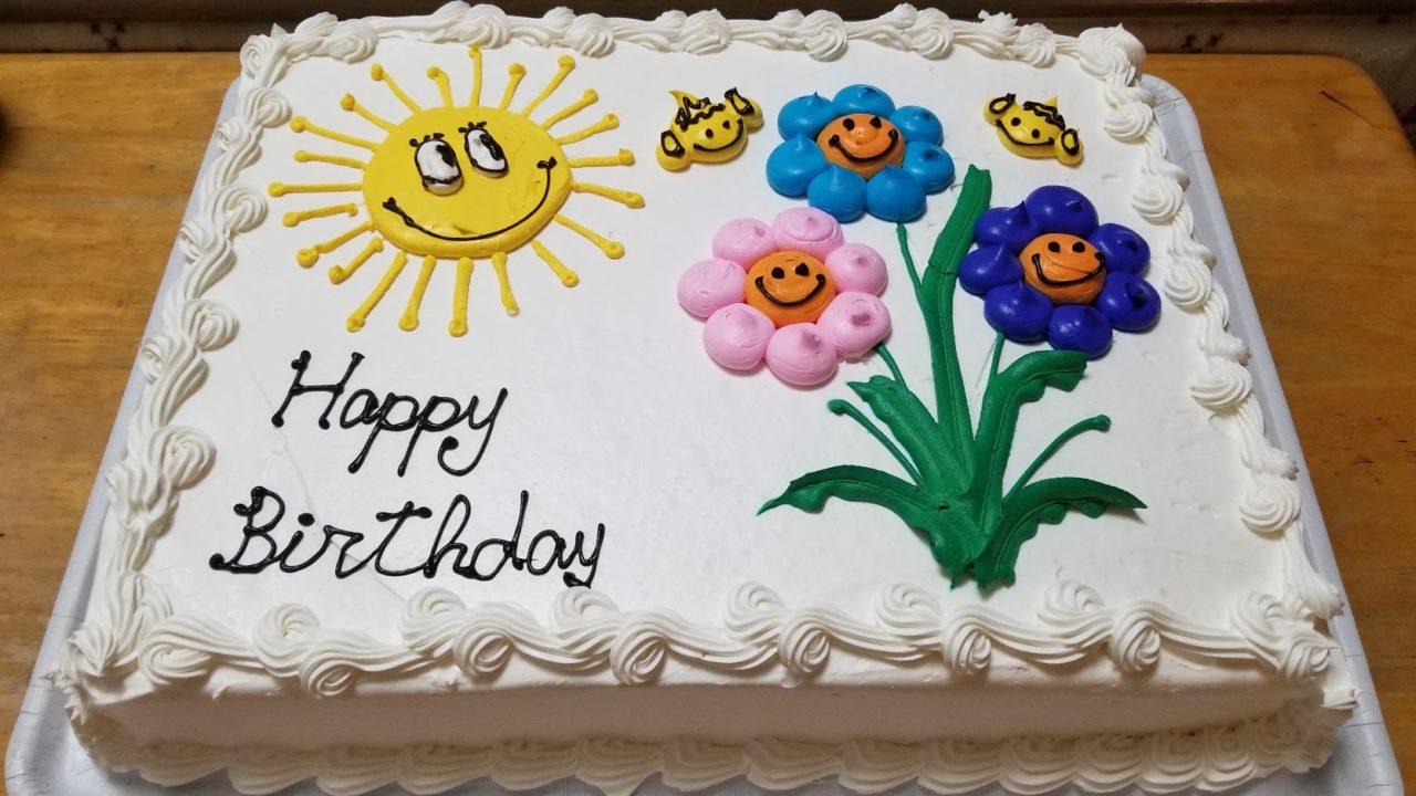 インパクトのあるコストコハーフシートケーキ