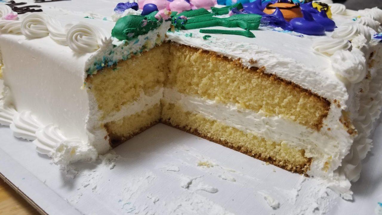 すごい厚みのハーフシートケーキ